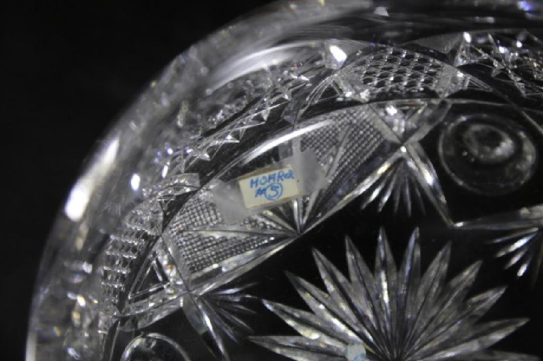J. HOARE BRILLIANT PERIOD CUT GLASS FOOTED BOWL - 6