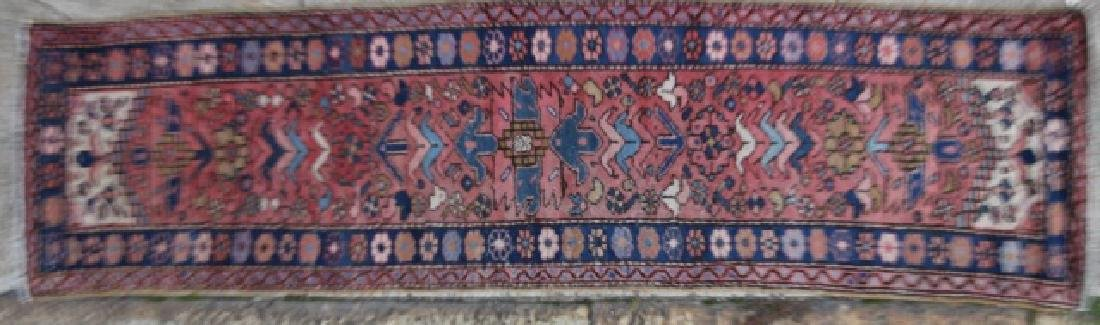 PERSIAN HAND WOVEN SEMI-ANTIQUE RUNNER - 8