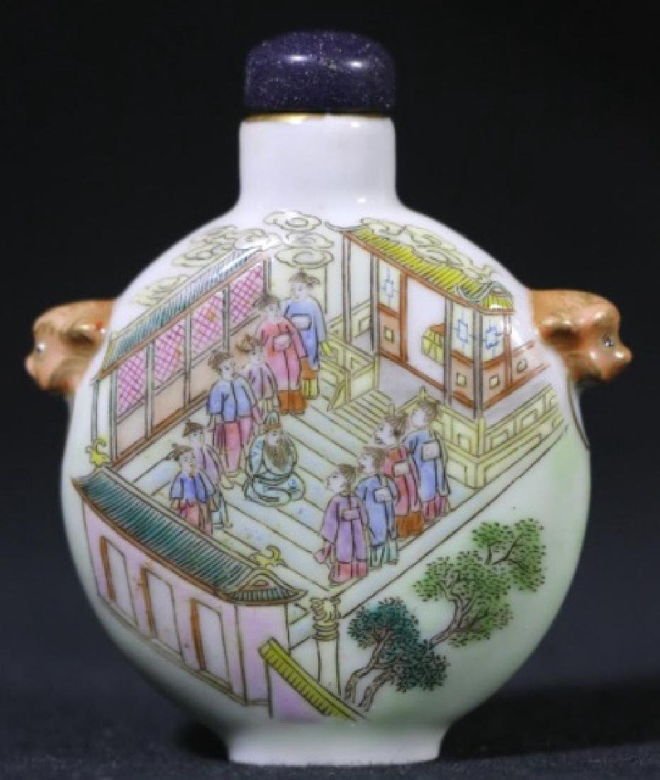 CHINESE ANTIQUE SNUFF BOTTLE - 6