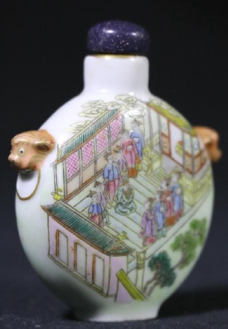 CHINESE ANTIQUE SNUFF BOTTLE - 7