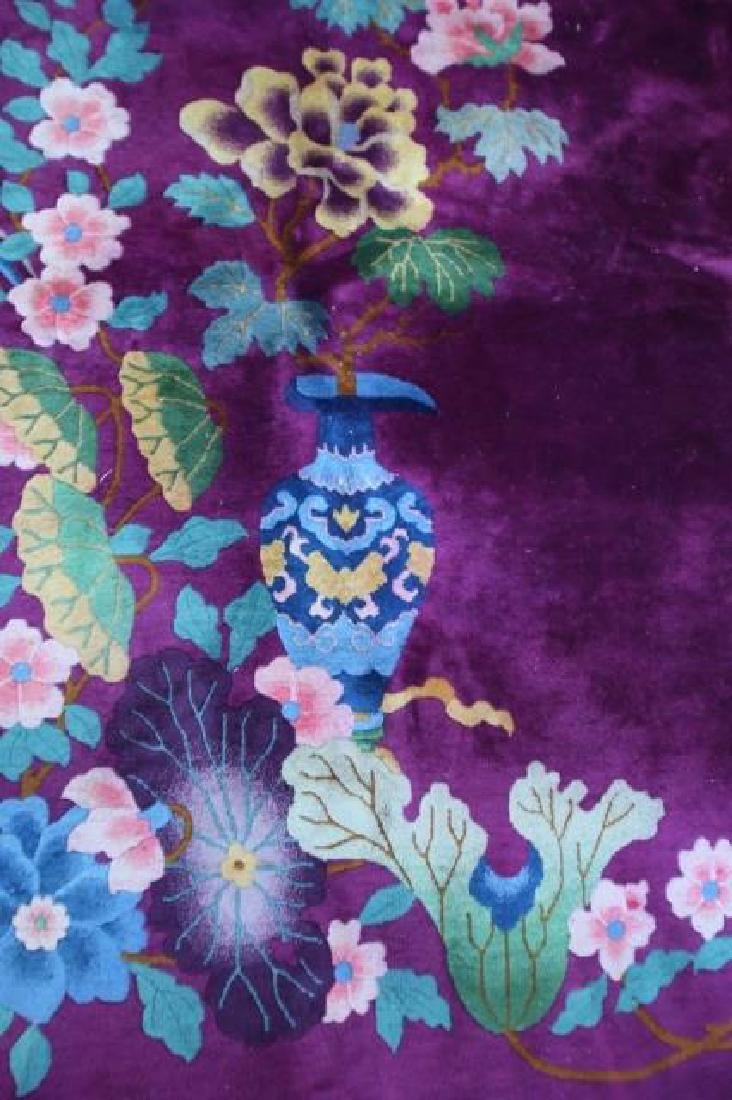 CHINESE VERY FINE VINTAGE PLUM AREA CARPET - 2