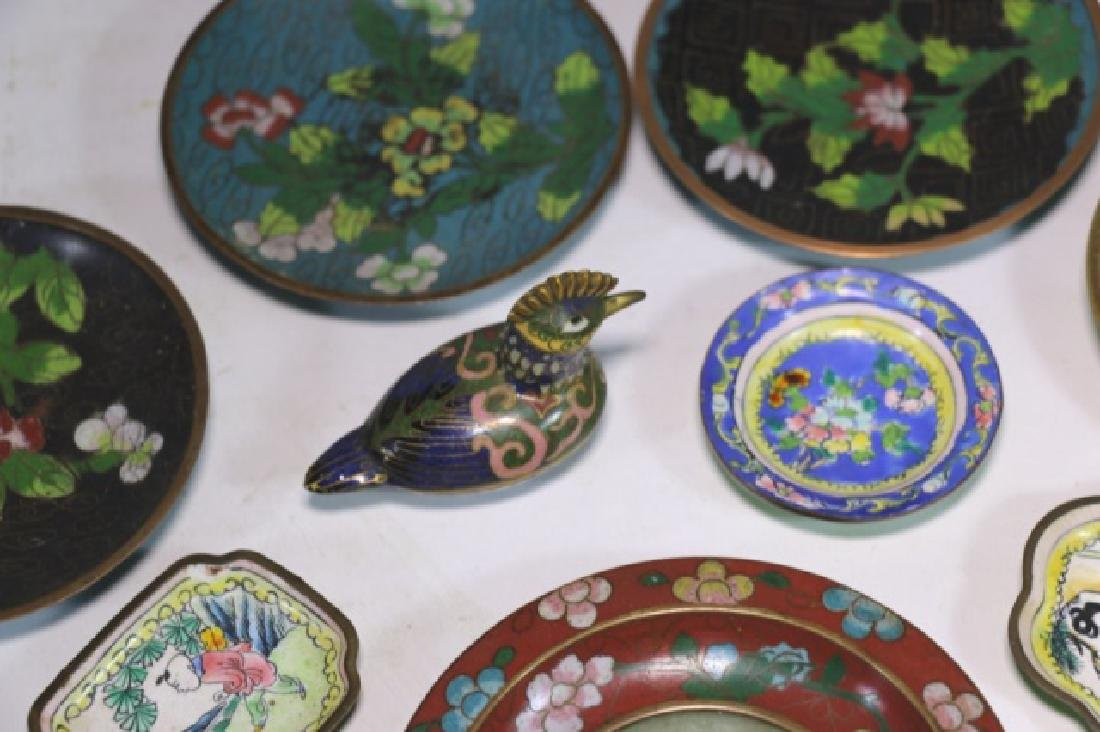 CHINESE ANTIQUE CLOISONNE / JADE GROUPNG - 3