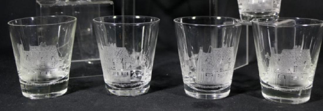 """HEISEY EQUESTRIAN """"TALLY HO"""" ETCHED OLD FASHIONS - 2"""