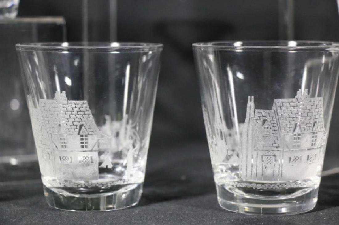 """HEISEY EQUESTRIAN """"TALLY HO"""" ETCHED OLD FASHIONS - 3"""