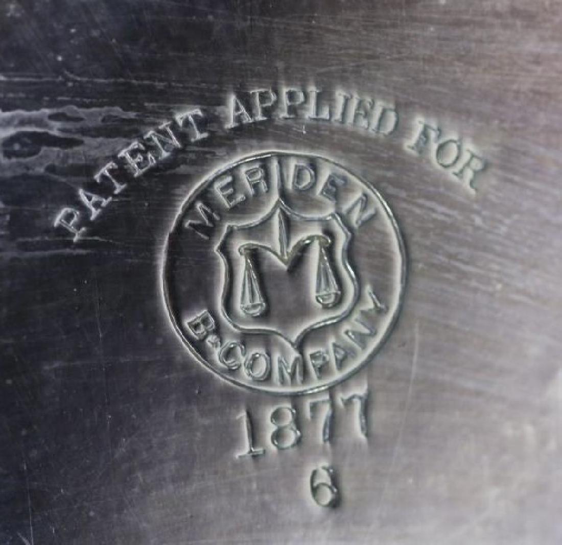B & COMPANY MERIDEN 1877 ANTIQUE SILVER SERVICE - 2