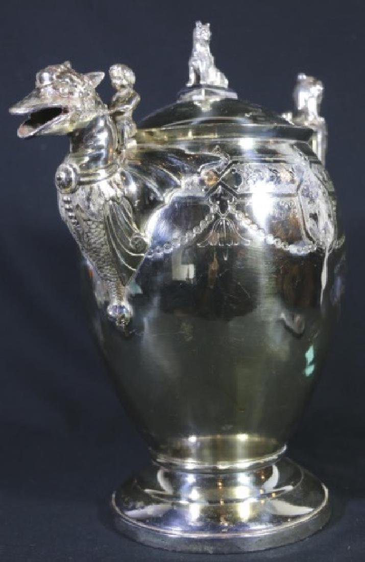 REED & BARTON VICTORIAN SILVER WATER PITCHER - 2