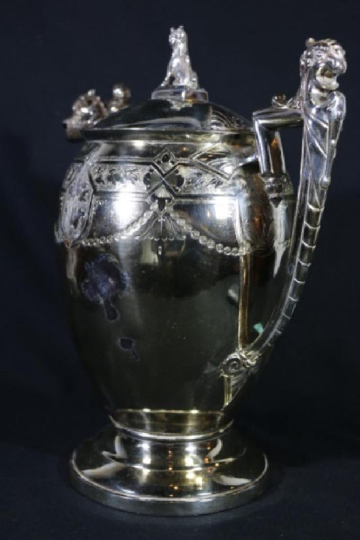 REED & BARTON VICTORIAN SILVER WATER PITCHER - 7