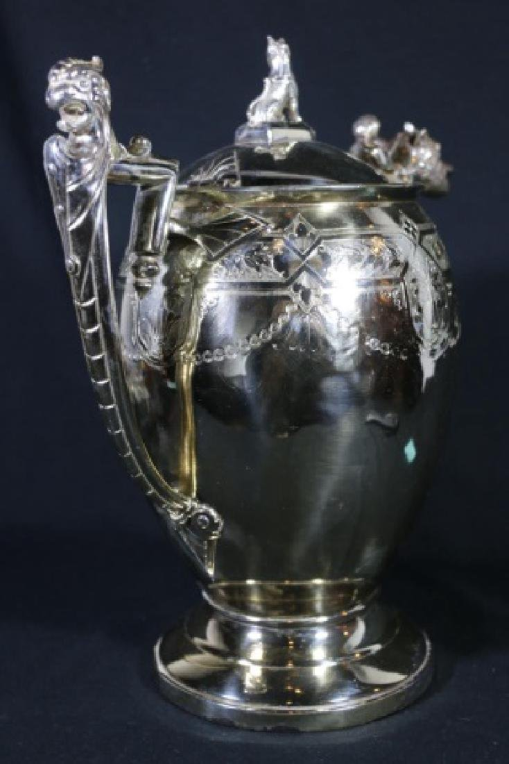 REED & BARTON VICTORIAN SILVER WATER PITCHER - 8