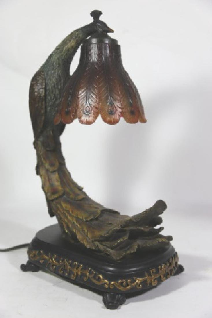 VINTAGE PEACOCK LAMP