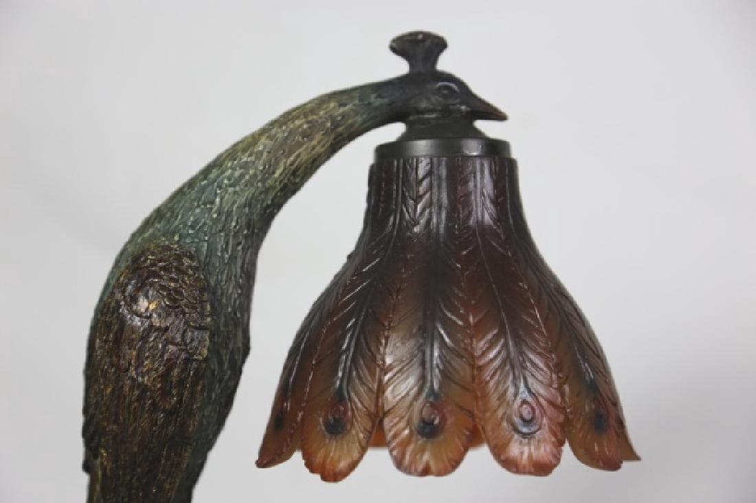 VINTAGE PEACOCK LAMP - 3