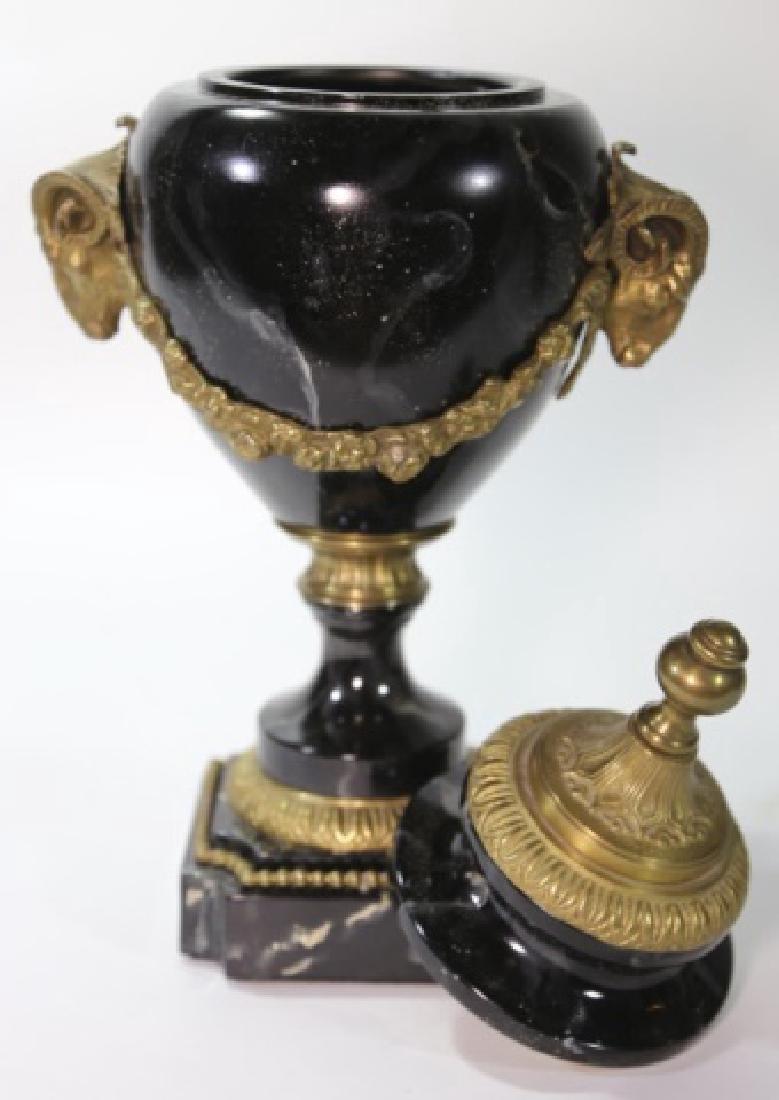 CHELSEA HOUSE BRONZE & MARBLE  BALISTER URN - 3