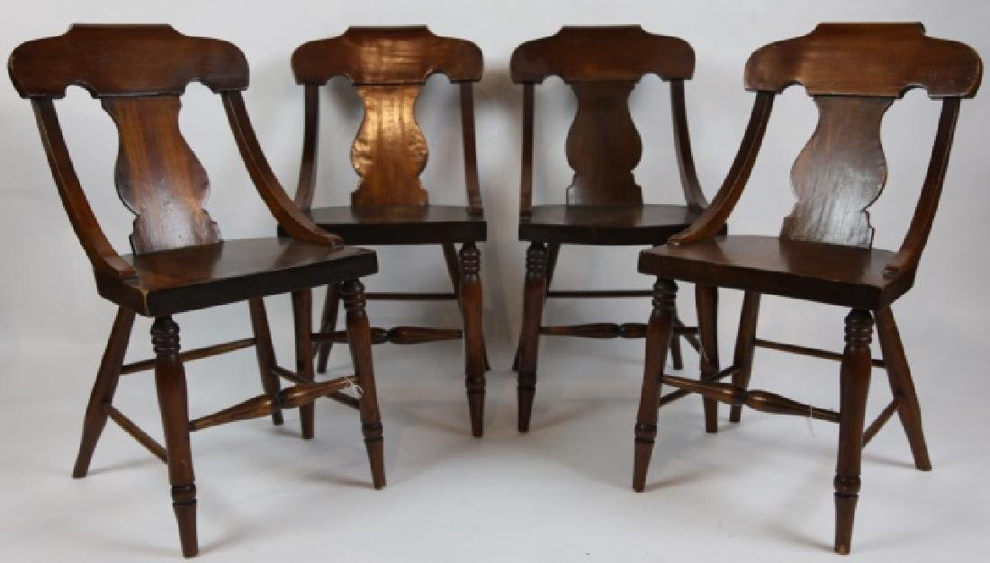 ANTIQUE TURNED LEG CHAIR SET OF FOUR - 10