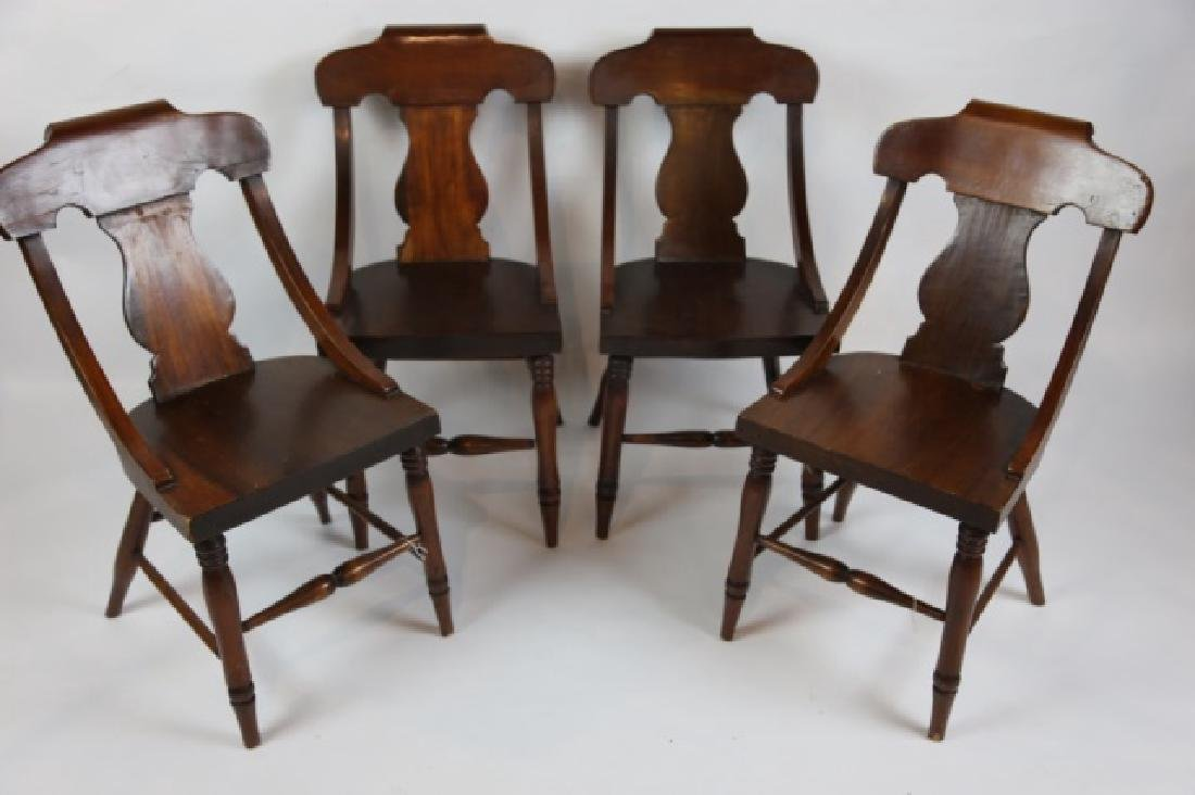 ANTIQUE TURNED LEG CHAIR SET OF FOUR - 3
