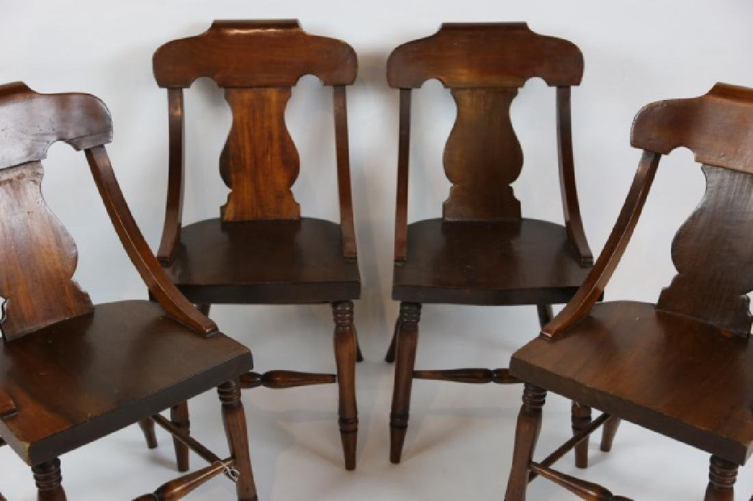 ANTIQUE TURNED LEG CHAIR SET OF FOUR - 6