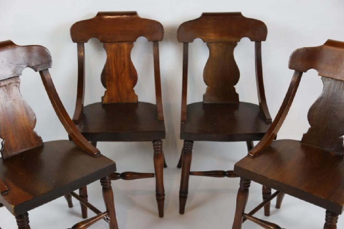 ANTIQUE TURNED LEG CHAIR SET OF FOUR - 7