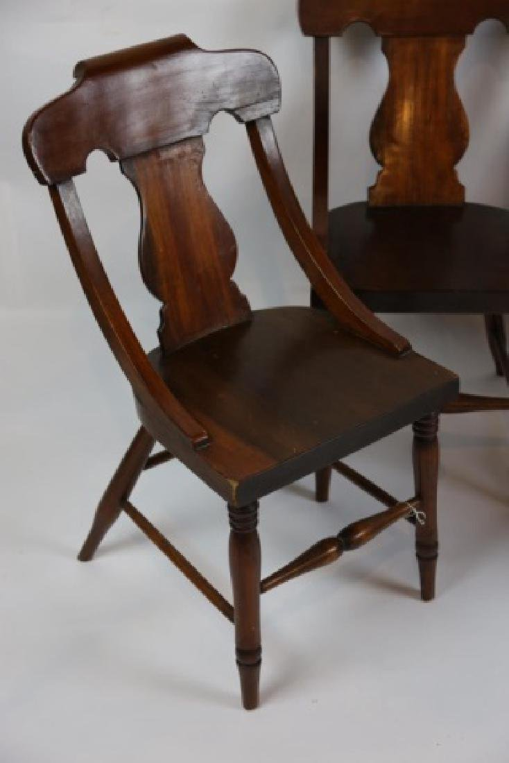 ANTIQUE TURNED LEG CHAIR SET OF FOUR - 8