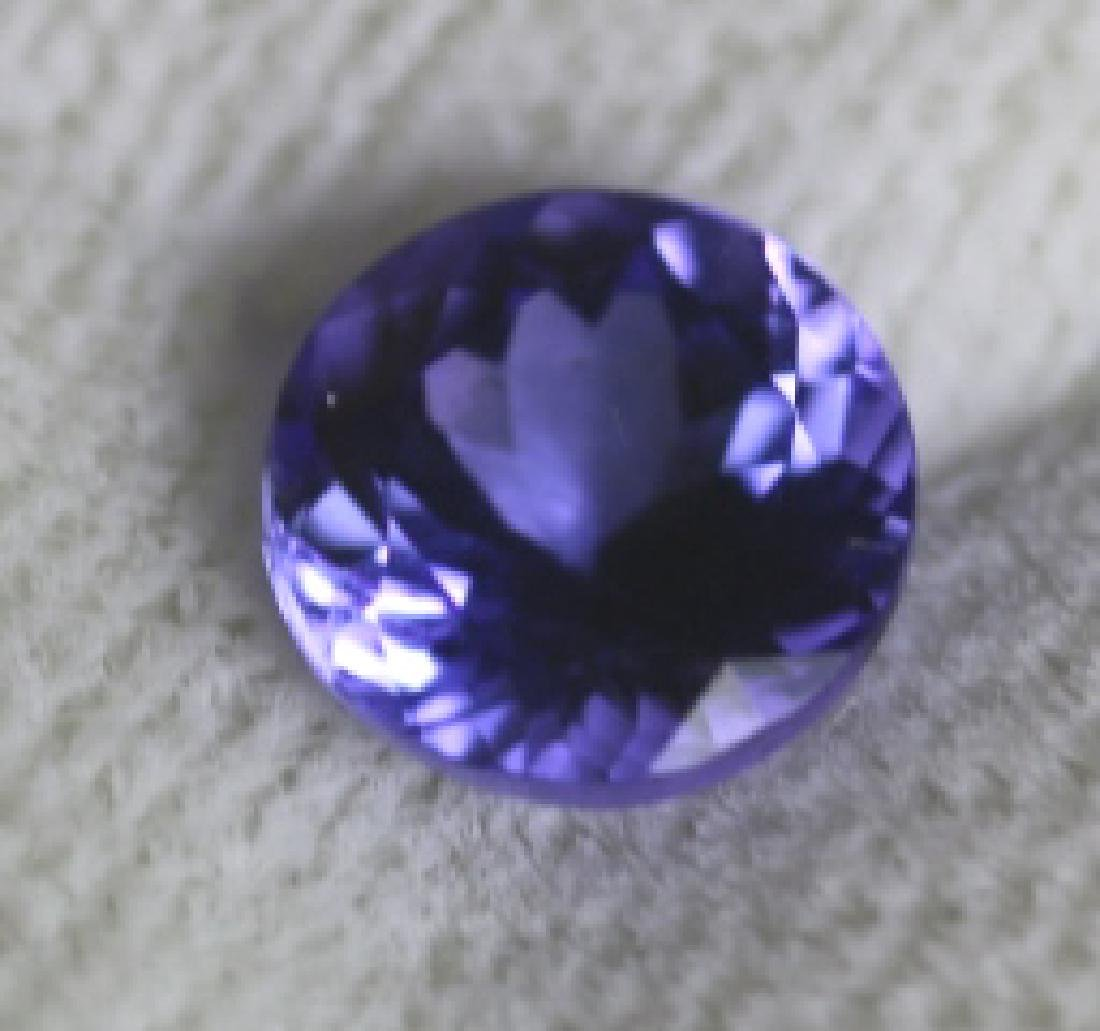 1.54CT TANZANITE LOOSE ROUND BRILLIANT