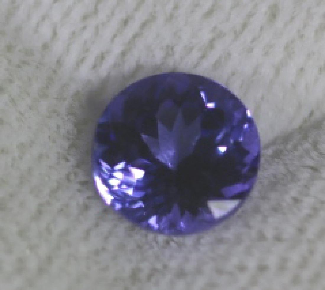 1.54CT TANZANITE LOOSE ROUND BRILLIANT - 2