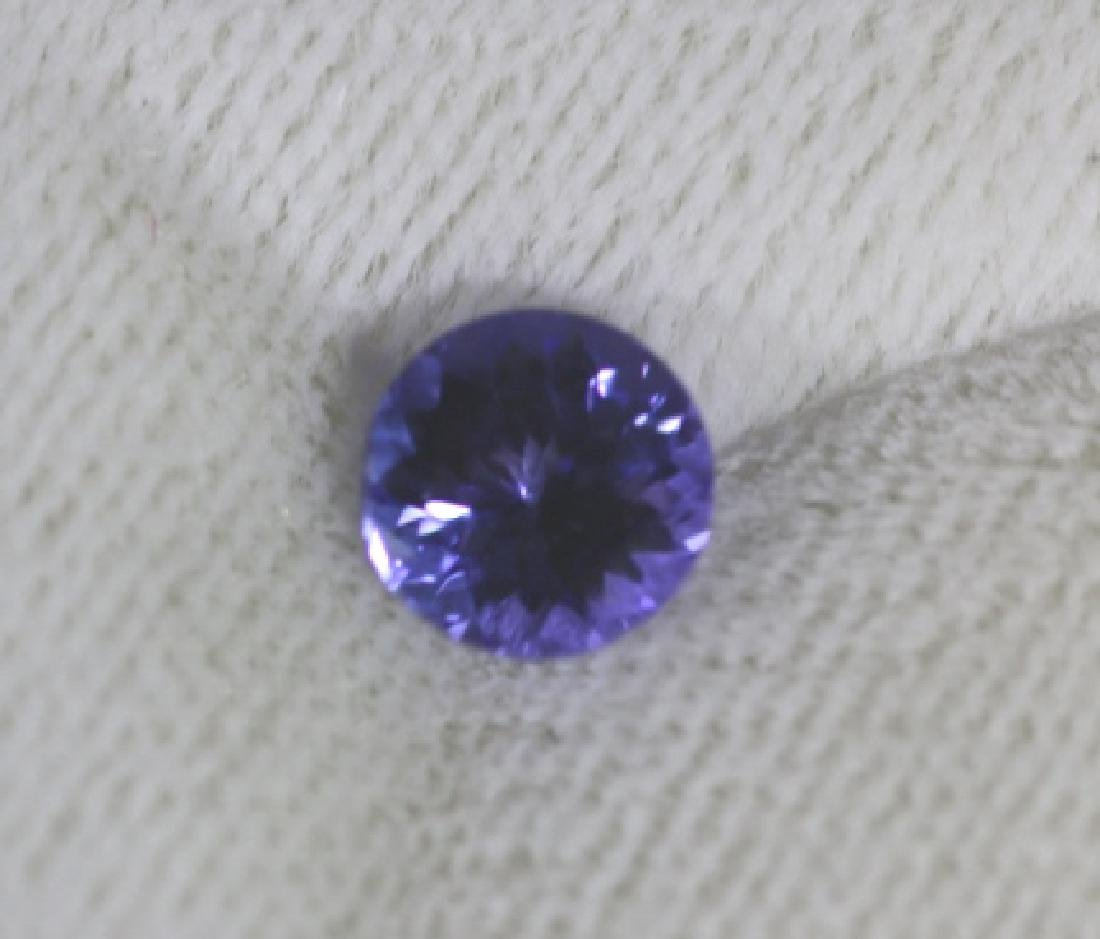 1.54CT TANZANITE LOOSE ROUND BRILLIANT - 3