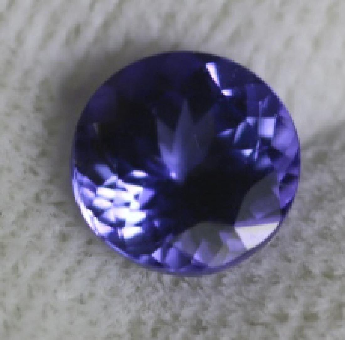 1.54CT TANZANITE LOOSE ROUND BRILLIANT - 4