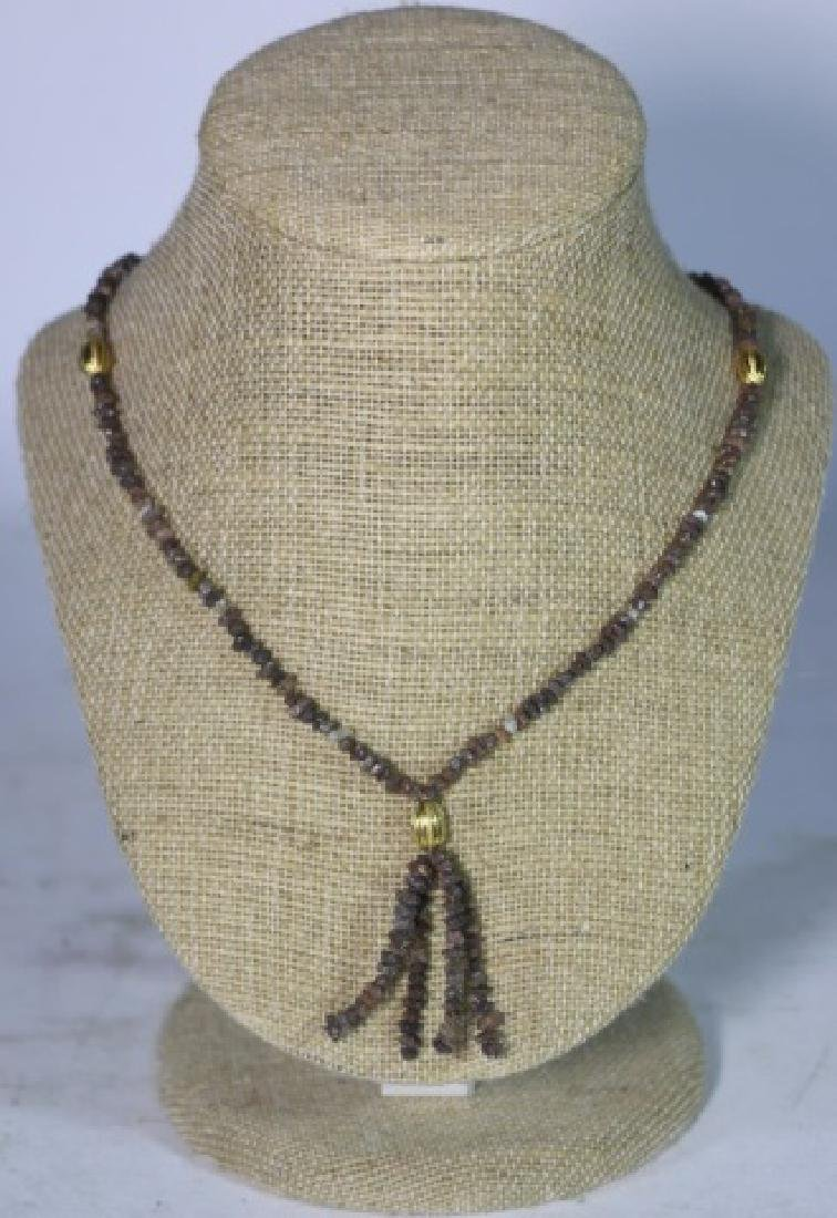 14KYG  BEAD MOUTED NECKLACE