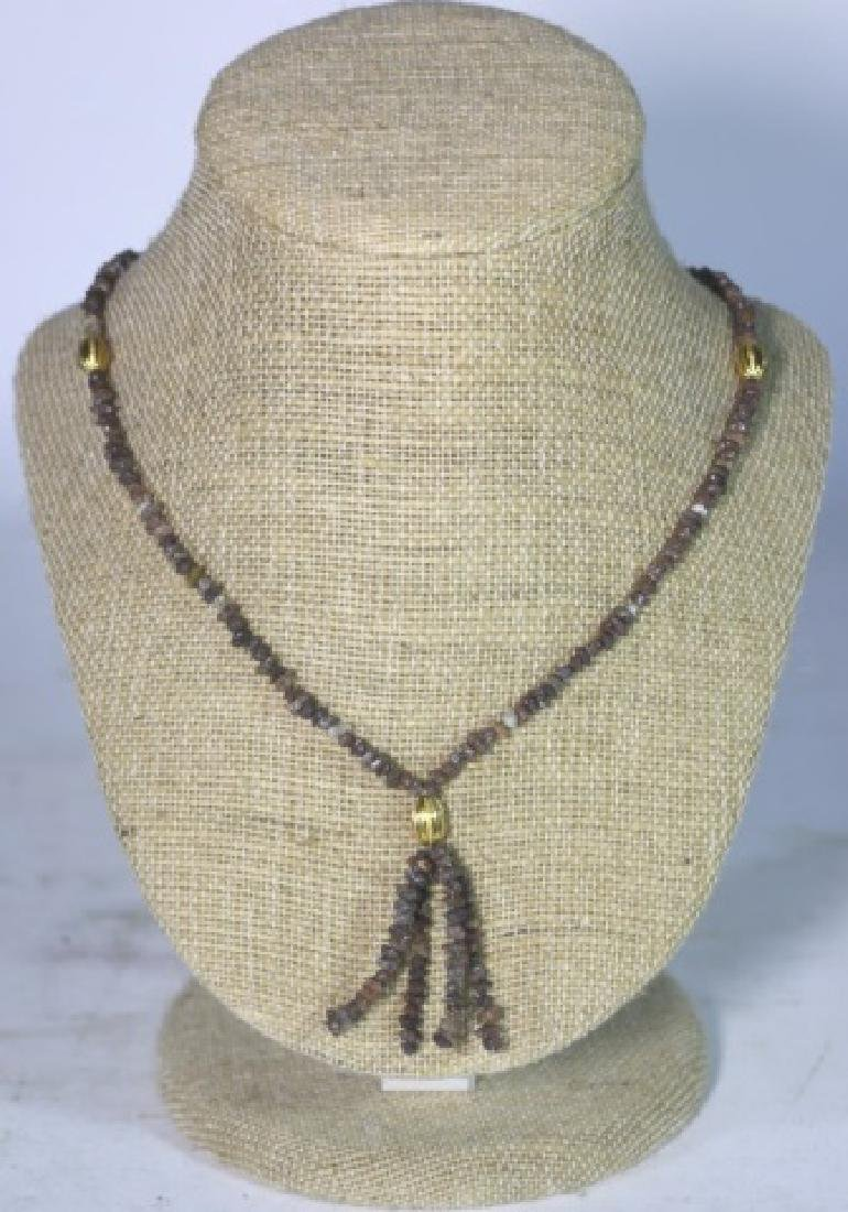 14KYG  BEAD MOUTED NECKLACE - 4