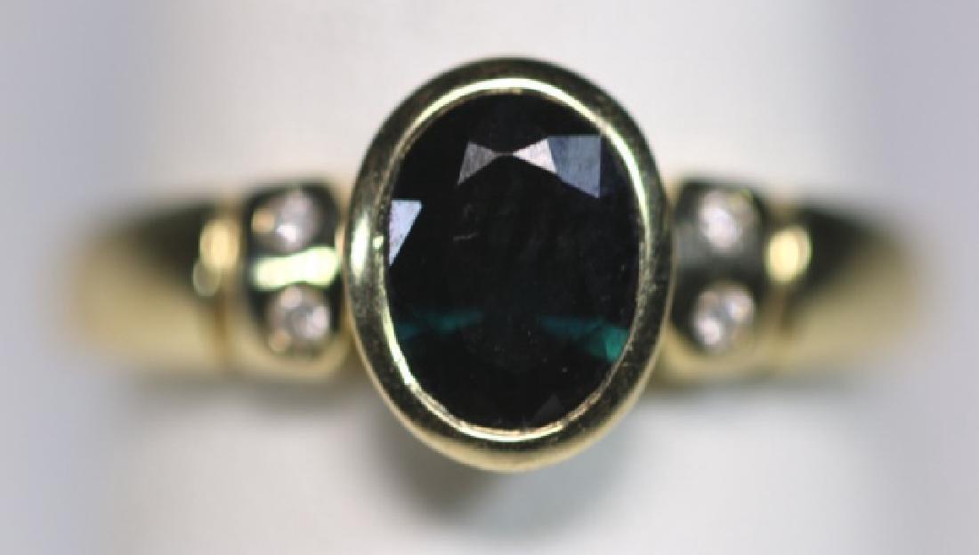 14KYG SAPPHIRE & DIAMOND LADIES MODERN RING - 3