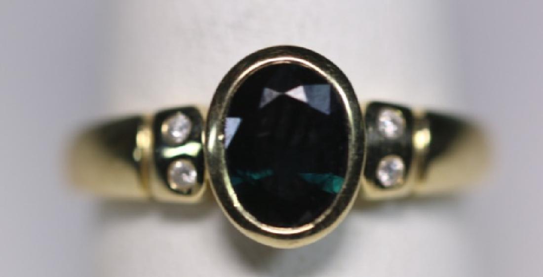 14KYG SAPPHIRE & DIAMOND LADIES MODERN RING - 4
