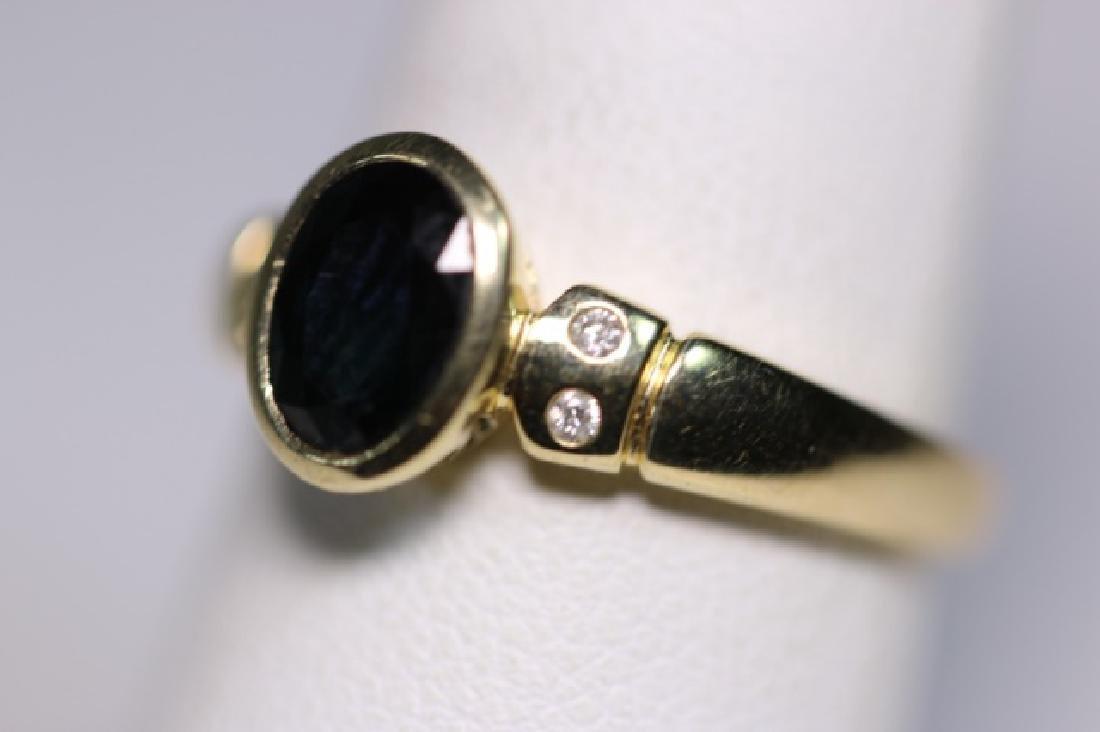 14KYG SAPPHIRE & DIAMOND LADIES MODERN RING - 5
