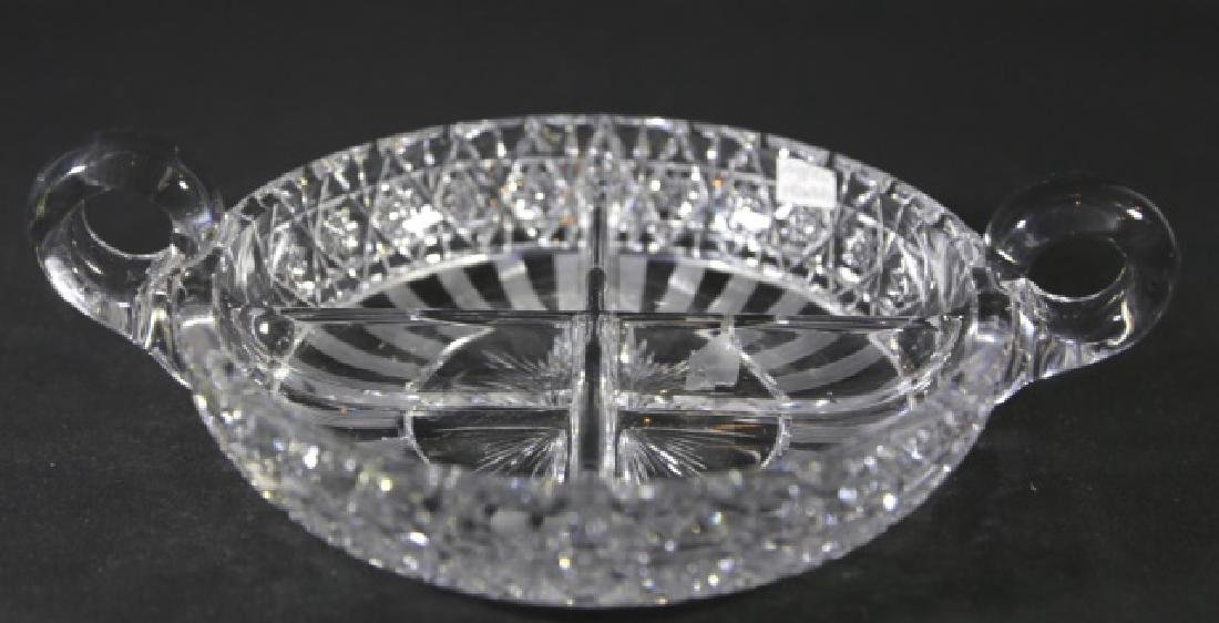 HAWKES ANTIQUE  CUT GLASS DIVIDED SERVING DISH - 6