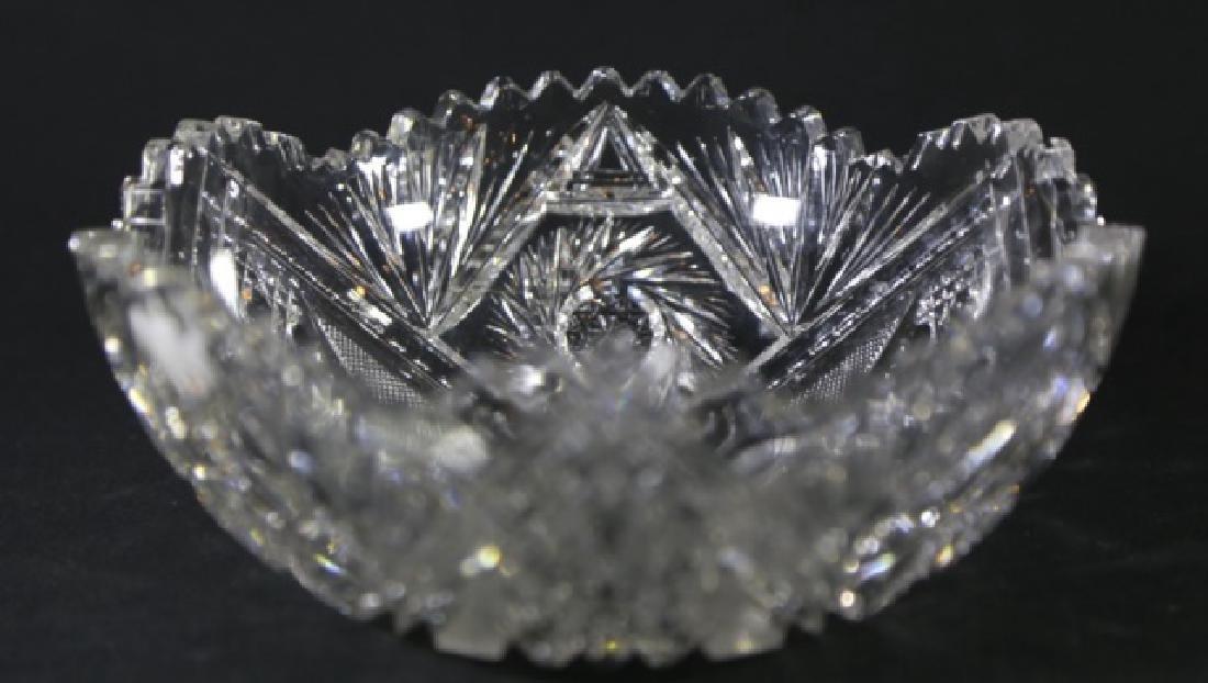 SIGNED BRILLIANT PERIOD CUT GLASS FRUIT BOWL - 3