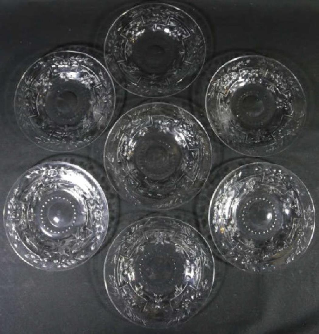 HAWKES SIGNED  FINE CUT GLASS LUNCHEON PLATE GROUP