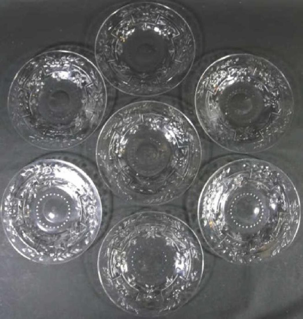 HAWKES SIGNED  FINE CUT GLASS LUNCHEON PLATE GROUP - 7