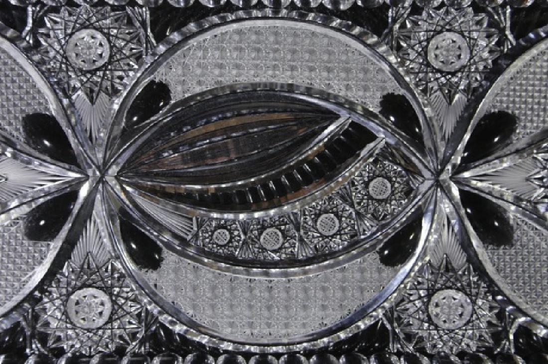 FINE CUT GLASS BRILLIANT CUTWORK DRESSER TRAY - 4
