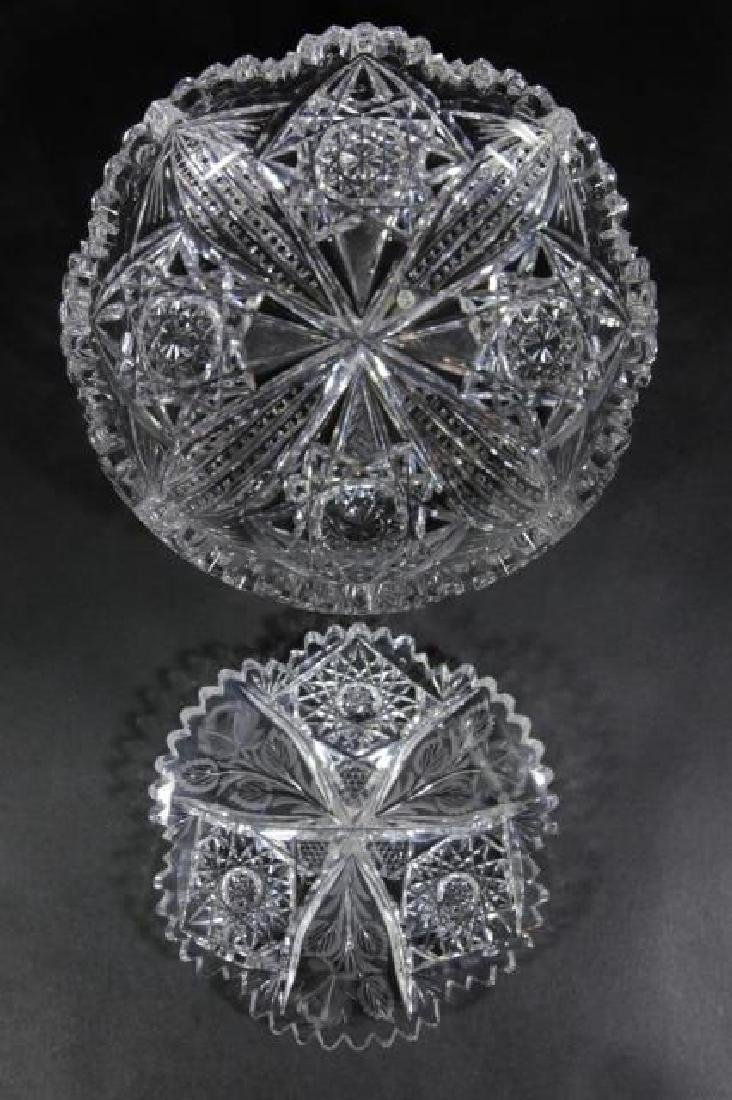 UNGER BROTHERS  FINE CUT GLASS BOWLS
