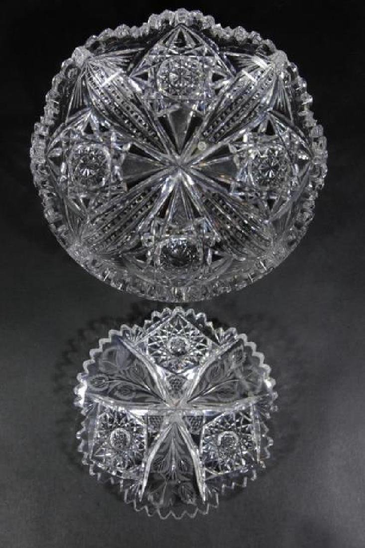 UNGER BROTHERS  FINE CUT GLASS BOWLS - 3