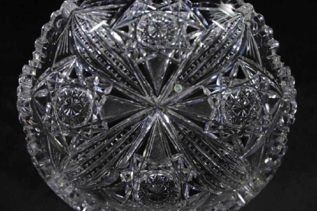 UNGER BROTHERS  FINE CUT GLASS BOWLS - 4