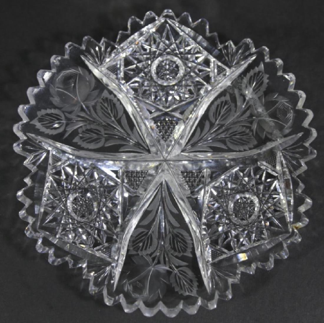 UNGER BROTHERS  FINE CUT GLASS BOWLS - 5