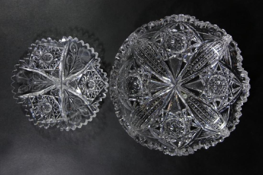 UNGER BROTHERS  FINE CUT GLASS BOWLS - 6