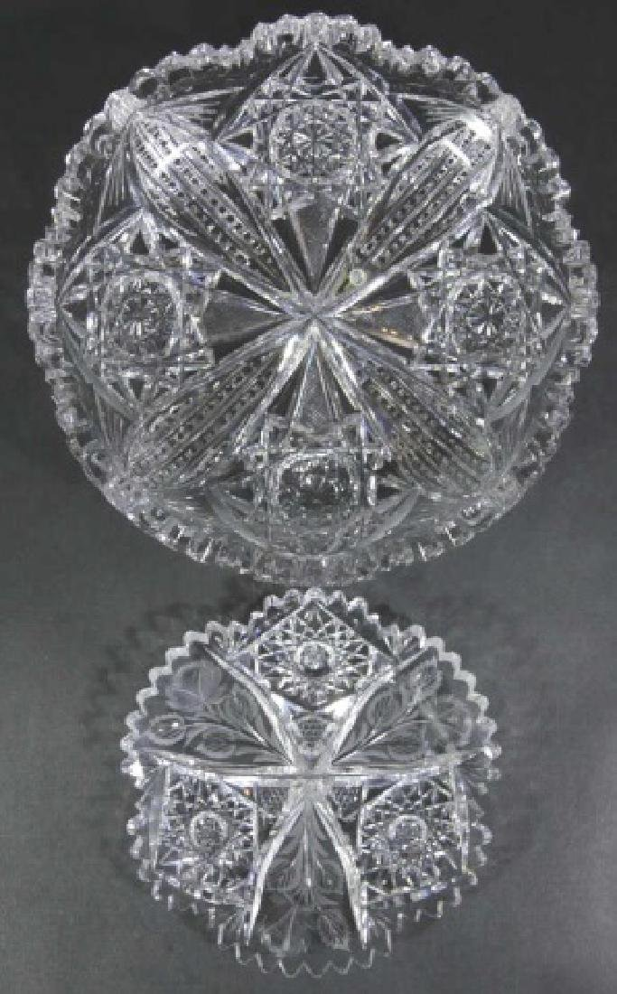 UNGER BROTHERS  FINE CUT GLASS BOWLS - 7