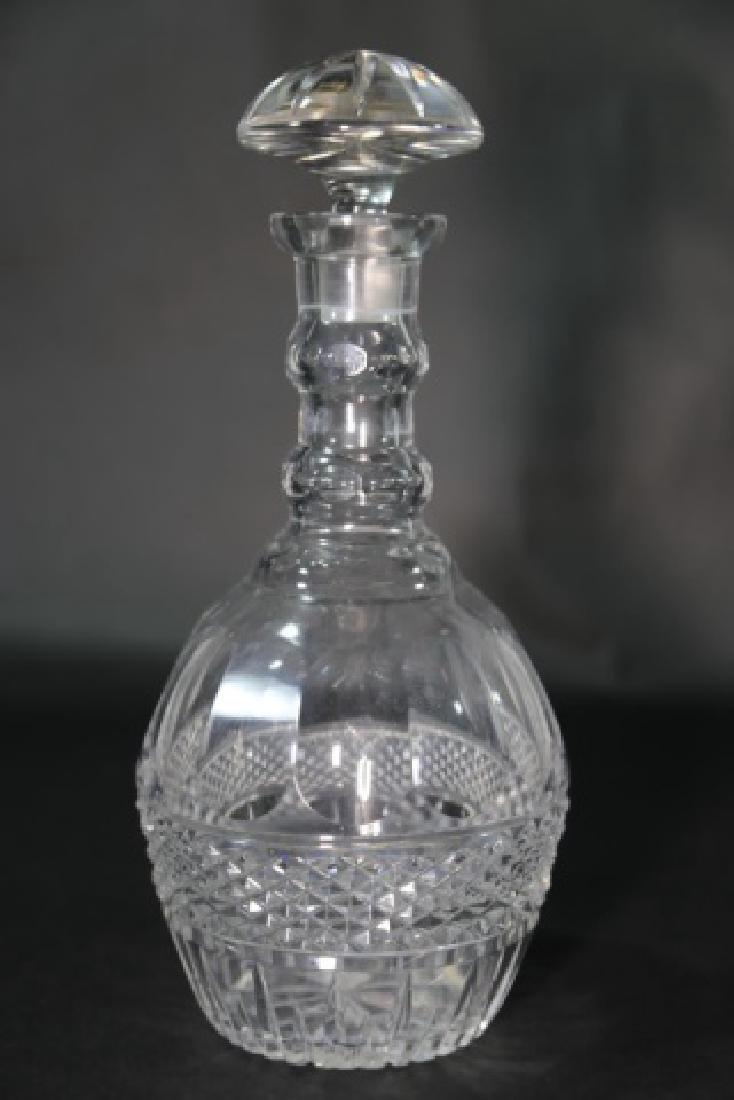 LARGE ANTIQUE CUT GLASS DECANTER