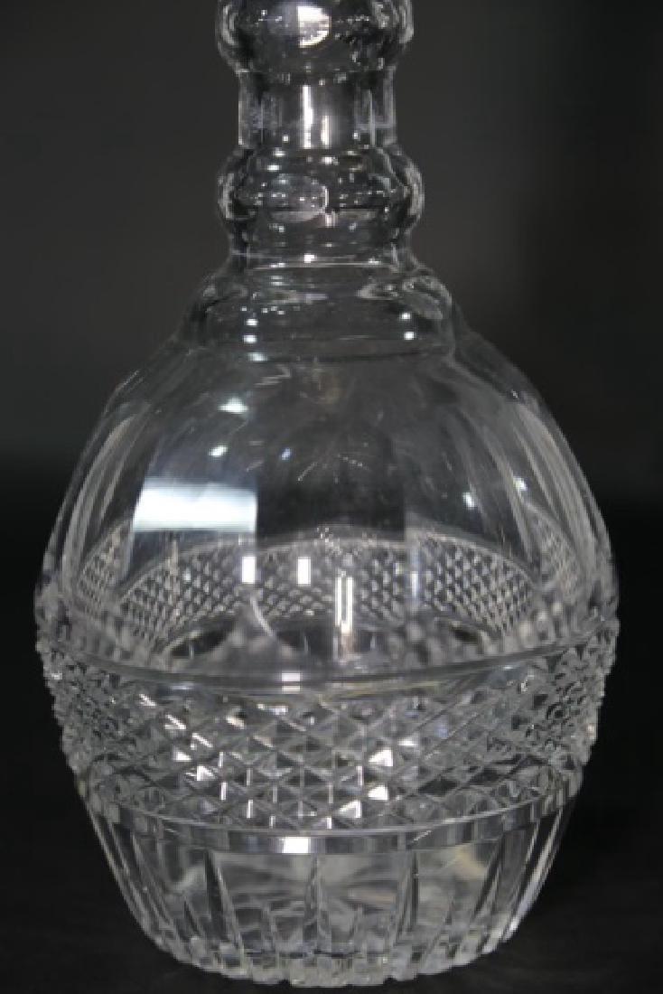 LARGE ANTIQUE CUT GLASS DECANTER - 2