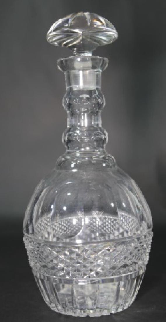 LARGE ANTIQUE CUT GLASS DECANTER - 3