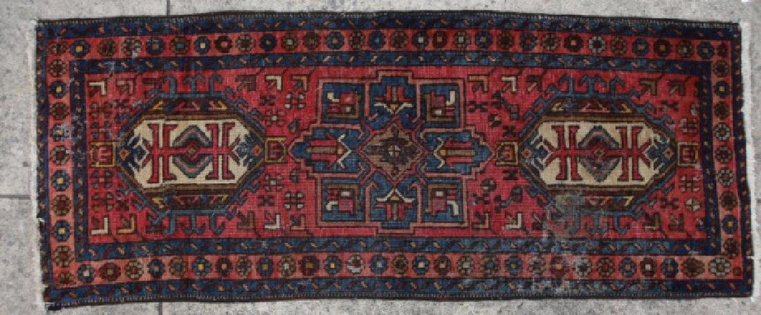 PERSIAN ANTIQUE HAND WOVEN AREA  RUNNER - 3