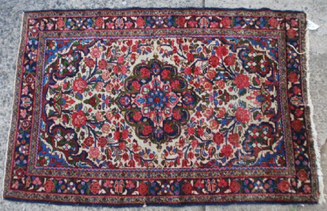 PERSIAN ANTIQUE HAND WOVEN AREA CARPET