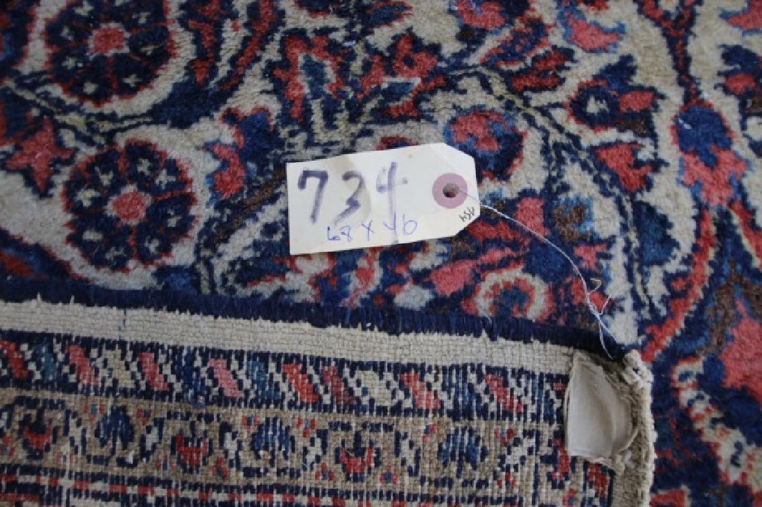 PERSIAN ANTIQUE HAND WOVEN AREA CARPET - 4