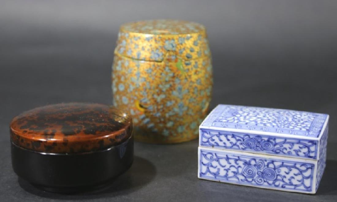 ASIAN ANTIQUE  BOX GROUPING