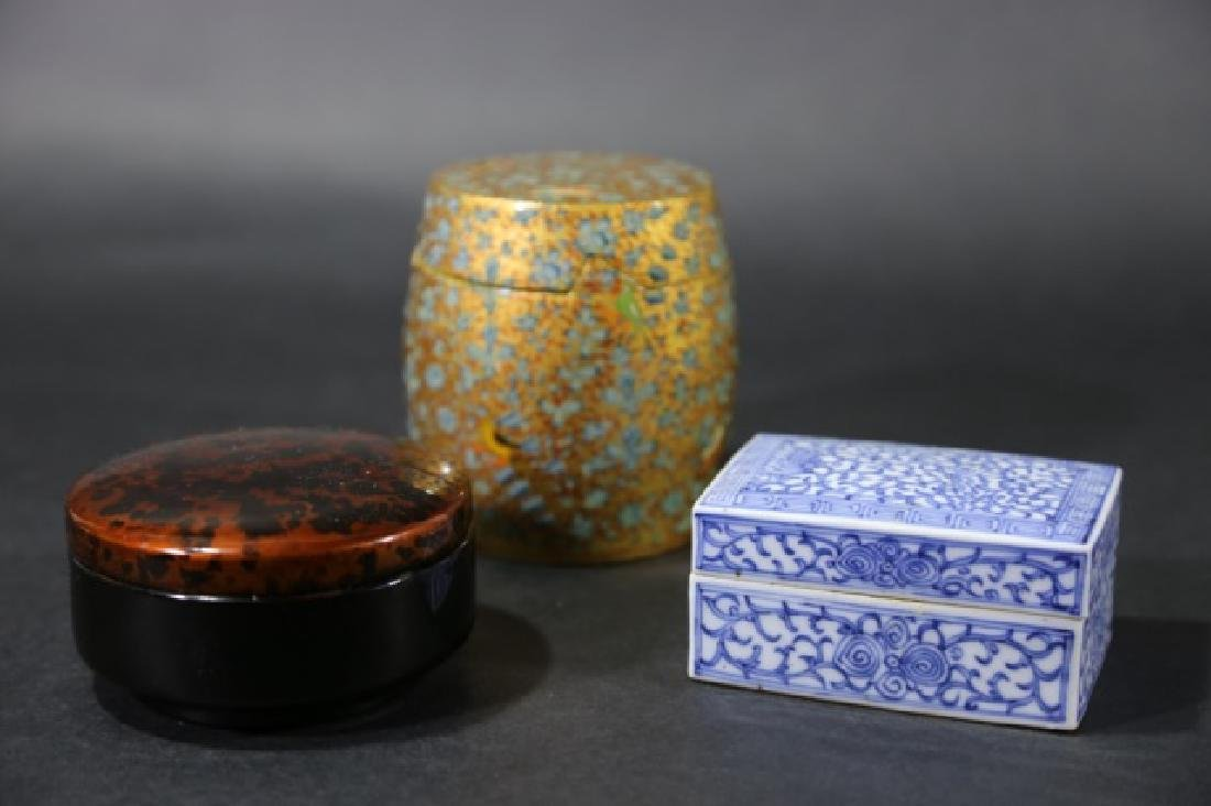 ASIAN ANTIQUE  BOX GROUPING - 9