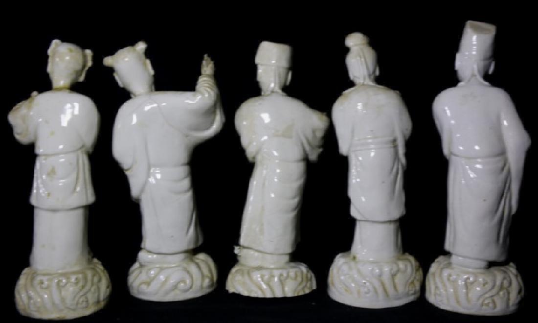 CHINESE ANTIQUE BLANC-DE-CHINE MUSEUM SCHOLARS - 2