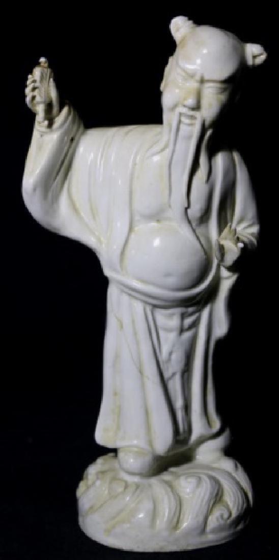 CHINESE ANTIQUE BLANC-DE-CHINE MUSEUM SCHOLARS - 7
